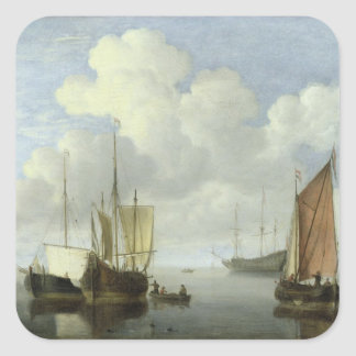 Seascape Square Sticker