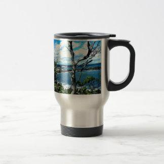 Seascape Stainless Steel Travel Mug