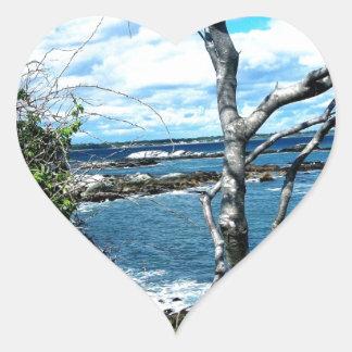 Seascape Heart Sticker