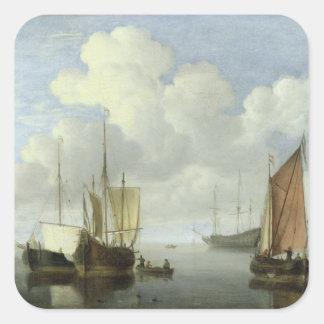 Seascape Square Stickers