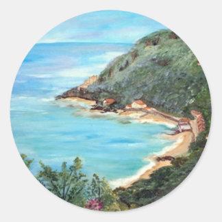 Seascape Round Stickers