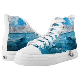 Seascape Unisex Summer High Tops Printed Shoes