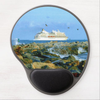 Seascape with Cruise Ship Gel Mouse Pad
