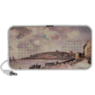Seascape with ponies on the beach travelling speaker