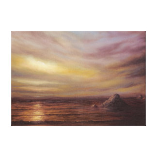 Seascape with Rocks Canvas Print