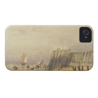 Seascape with Sailing Barges and Figures Wading Of iPhone 4 Case-Mate Case
