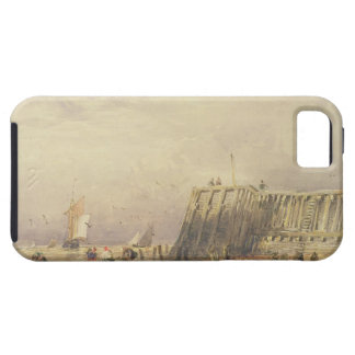 Seascape with Sailing Barges and Figures Wading Of iPhone 5 Cover
