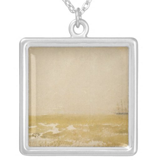 Seascape with Schooner by Whistler Custom Necklace