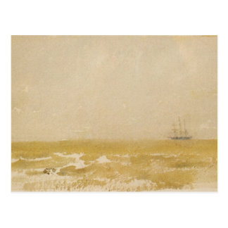 Seascape with Schooner by Whistler Postcard