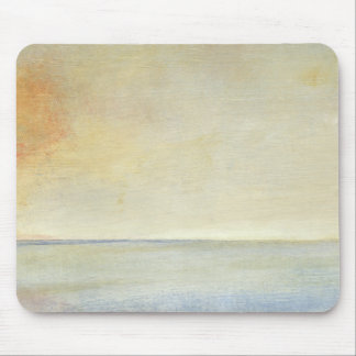 Seascape with Tranquil Orange Sunset Mouse Pad