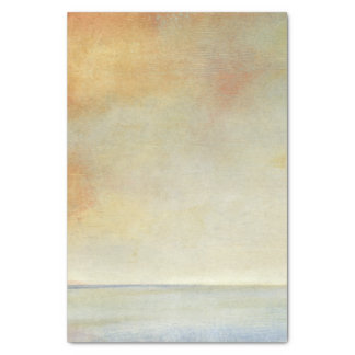 Seascape with Tranquil Orange Sunset Tissue Paper