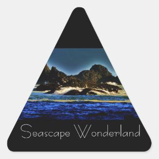 Seascape Wonderlands Triangle Sticker