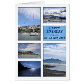 Seascapes birthday card for Great Grandpa