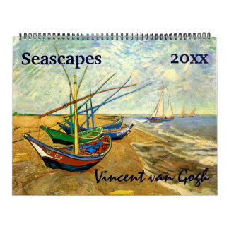 Seascapes, Maritime, Nautical by Vincent van Gogh Wall Calendars
