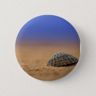 Seashell 6 Cm Round Badge