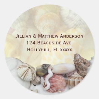 Seashell Address Label Stickers