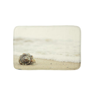 Seashell Alone On Beach Bath Mat