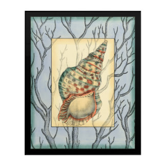 Seashell and Tree Branches Acrylic Wall Art