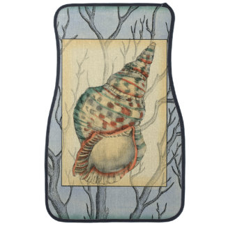 Seashell and Tree Branches Car Mat