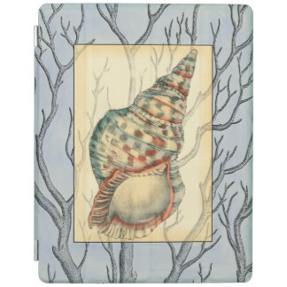 Seashell and Tree Branches iPad Cover