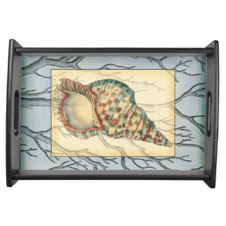 Seashell and Tree Branches Serving Tray