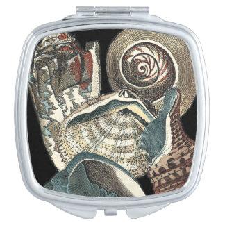 Seashell Anthology Travel Mirror