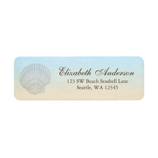 Seashell Beach Personalised Address Label