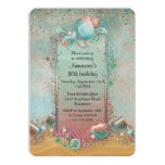 "Seashell Beach Themed Birthday 5"" X 7"" Invitation Card"
