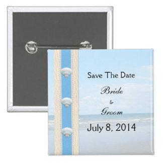 Seashell Beach Wedding Save The Date Pins