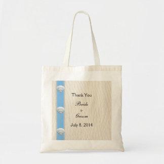 Seashell Beach Wedding Thank You Budget Tote Bag
