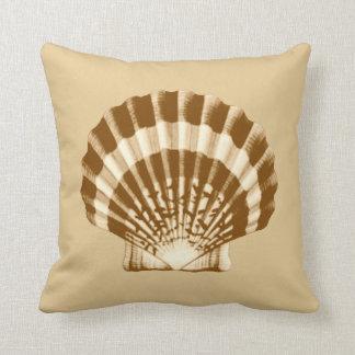 Seashell - brown and beige cushion