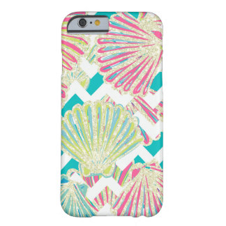 Seashell Chevron Pattern Glamour Barely There iPhone 6 Case