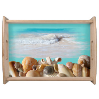 Seashell Collection Coastal Theme Serving Tray