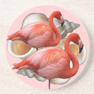 Seashell Flamingo Coaster