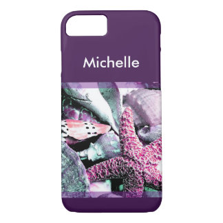 Seashell Graphic Art Name Drop iPhone 7 Case