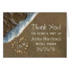Seashell Heart Beach Bridal Shower Thank You Card