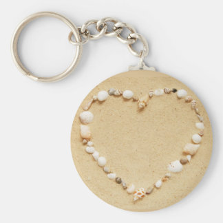 Seashell Heart Key Ring