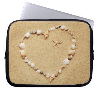Seashell Heart with Starfish Laptop Sleeve
