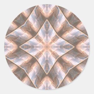 Seashell Layers Round Sticker
