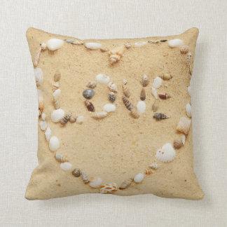 Seashell Love Heart Cushion