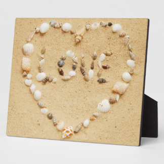 Seashell Love Heart Plaque