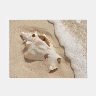Seashell On Beach | Grand Turk Caribbean Island Doormat