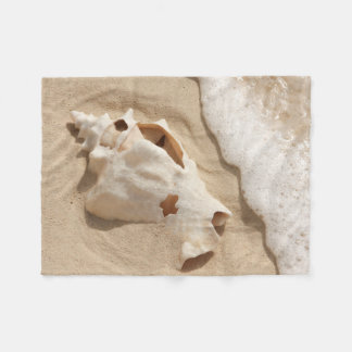 Seashell On Beach   Grand Turk Caribbean Island Fleece Blanket