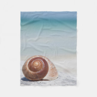 Seashell On Beach   St. Petersburg, Fl Fleece Blanket
