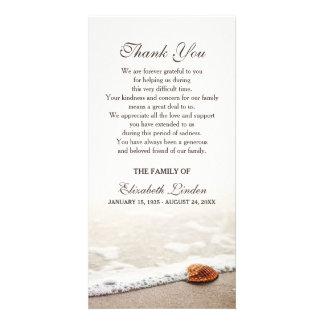 Seashell on the Beach | Sympathy Thank You Custom Photo Card
