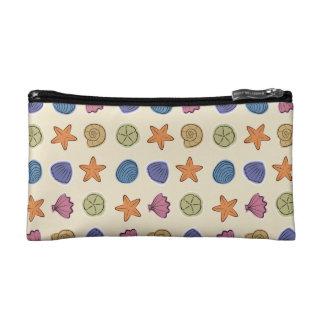 Seashell Pattern Small Cosmetic Bag