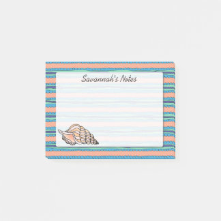 Seashell Personalized Post-it Notes
