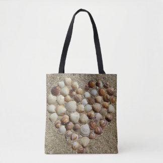 Seashell printed tote
