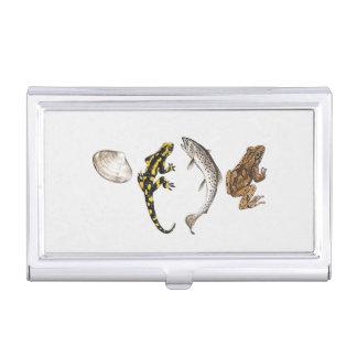 Seashell, Salamander, Salmon Business Card Holder
