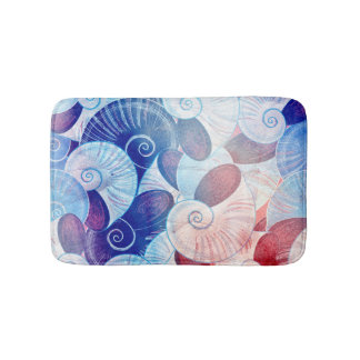 Seashell Scene Pattern Bath Mat